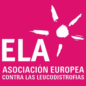 Logotipo de ELA España las siglas de ELA Asociación Europea contra las Leucodistrofias