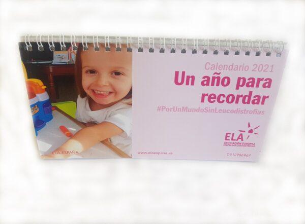 Calendario Solidario Ela sobremesa